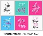lettering vector postcard... | Shutterstock .eps vector #414034567
