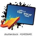 banner and arrow | Shutterstock .eps vector #41403640