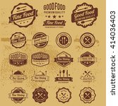 premium vintage food badges... | Shutterstock .eps vector #414036403