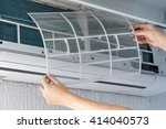 dirty filter of air conditioner ... | Shutterstock . vector #414040573