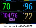 vital sign  monitor in... | Shutterstock . vector #414041077