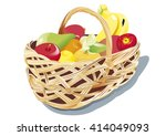 fruits basket | Shutterstock .eps vector #414049093