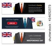 business man standing british...   Shutterstock .eps vector #414052573