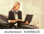 young fashion blond business... | Shutterstock . vector #414058123