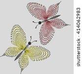 illustration two butterflies... | Shutterstock .eps vector #414062983