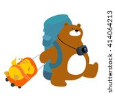 bear and duck backpacks... | Shutterstock .eps vector #414064213