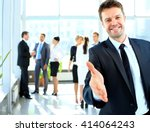 portrait of a successful... | Shutterstock . vector #414064243