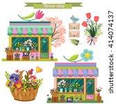 Flower Shop. Pastel Colors....
