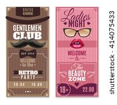 gentlemen club retro party and... | Shutterstock .eps vector #414075433