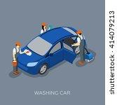 auto service scheduled car... | Shutterstock .eps vector #414079213