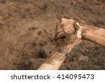 couple hold hands help when... | Shutterstock . vector #414095473