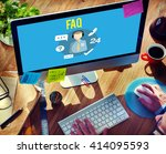 faq inquiry questions guide... | Shutterstock . vector #414095593