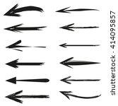 hand drawn arrows set | Shutterstock .eps vector #414095857