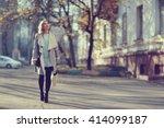 Autumn Portrait Of Happy Girl...