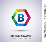 b letter colorful logo in the...