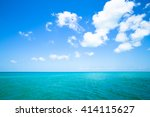 Vibrant color image of tropical ocean and sky