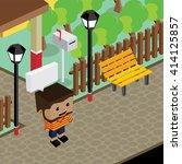 cartoon life isometric | Shutterstock .eps vector #414125857