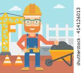 builder showing thumbs up. | Shutterstock .eps vector #414126013