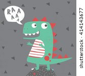 little dinosaur illustration... | Shutterstock .eps vector #414143677