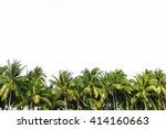 line up of coconut tree... | Shutterstock . vector #414160663