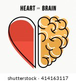 heart and brain work as team... | Shutterstock .eps vector #414163117