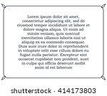 border frame line deco vector... | Shutterstock .eps vector #414173803