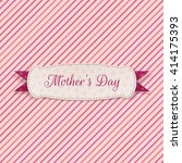 mothers day paper label | Shutterstock .eps vector #414175393