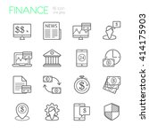 banking and finance line icons | Shutterstock .eps vector #414175903