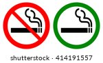 no smoking and smoking area... | Shutterstock .eps vector #414191557