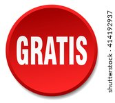 gratis red round flat isolated...