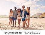 group of friends standing... | Shutterstock . vector #414196117