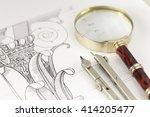 architecture blueprint ...   Shutterstock . vector #414205477