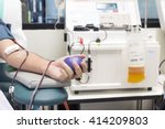 blood plasma donation process ... | Shutterstock . vector #414209803