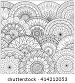 flowers and mandalas line art... | Shutterstock .eps vector #414212053