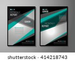 brochure template  flyer design ... | Shutterstock .eps vector #414218743