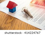 wooden house miniature and... | Shutterstock . vector #414224767