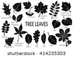 black pictograms set  tree... | Shutterstock . vector #414235303