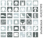 vector set of wear icons | Shutterstock .eps vector #414237493