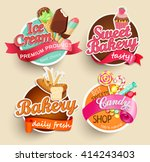food label or sticker   bakery  ... | Shutterstock .eps vector #414243403