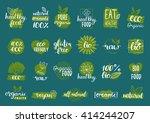 vector eco  organic  bio logos... | Shutterstock .eps vector #414244207