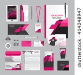 white corporate identity... | Shutterstock .eps vector #414248947