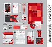 white corporate identity... | Shutterstock .eps vector #414249007