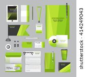 white corporate identity... | Shutterstock .eps vector #414249043