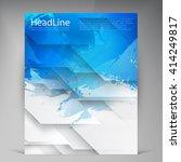 vector beautiful blue flyer.... | Shutterstock .eps vector #414249817