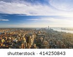new york city from aerial view | Shutterstock . vector #414250843