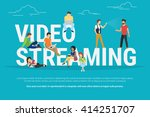 video streaming concept... | Shutterstock .eps vector #414251707