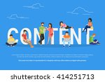 content concept illustration of ... | Shutterstock .eps vector #414251713