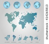 world map with globes detailed... | Shutterstock .eps vector #414265813