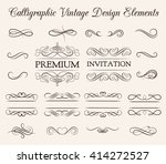 ornate frame elements. vintage... | Shutterstock .eps vector #414272527