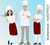 young professional chefs.... | Shutterstock .eps vector #414275317